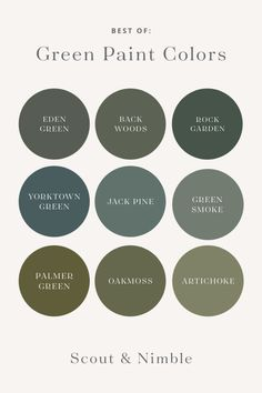 Bring natural, saturated tones into your home with green paint. Whether on cabinets or walls, green is gorgeous in any shade and we've curated some of our favorites just for you Green Exterior Paints, Exterior Paint Colors, Exterior House Colors, Exterior Design, Olive Green Paints, Olive Green Walls, Olive Green Color, Blue Green, Green Paint Colors