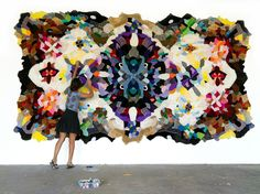 Skin Rug Collection - Agustina Woodgate...a rug made from stuffed animal skins.
