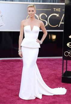 Oscars 2013 - Charlize Theron in Dior and Harry Winston