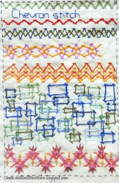 I ❤ embroidery . . . Tast Chevron Stitch- ~By Maya Matthew