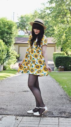 Sunflower dress from American Apparel. ADORABLE!