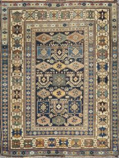 "KEIVAN WOVEN ARTS, Type : Shirvan Origin : Caucasus Size : 3'5""x4'5"" Circa : 1900"