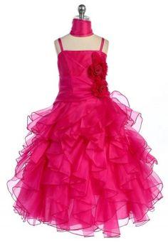 Selene: Ruffeled Pageant Dress in Fuchsia - Up To Size 20