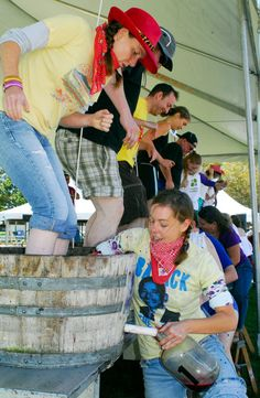 Grape Stomping at the Sonoma County Harvest Fair