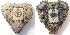 """""""Pretty Pincushions, Embroidered by British Soldiers in WWI and Sent To Their Sweethearts Back Home"""""""