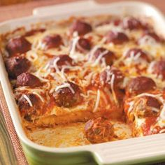 meatball sub casserole.  Mama Babbs made this for us when Silas was born and it was delightful!