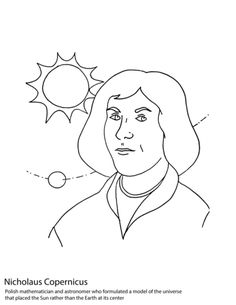Nicolaus Copernicus coloring page from Poland category. Select from 24114 printable crafts of cartoons, nature, animals, Bible and many more.
