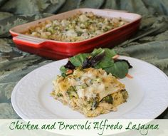 Chicken and Broccoli Alfredo Lasagna recipe // this looks so good! I wonder if it would work with the no-cook noodles?