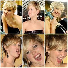 THE VERY MANY FACES OF JLAW AT SAG AWARDS#jenniferlawrence #jlaw #catchingfire #thehungergames #catchingfire #awesome #pixie #look #outfit #dior #christiandior #blonde #win #violet #purple #expression #selfie #fashion #style #lol #hahaha #haha... - Celebrity Fashion