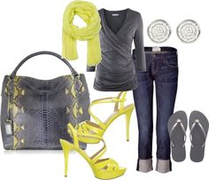 """not usually a yellow fan, but this is just right"" by cara-vanacore on Polyvore"