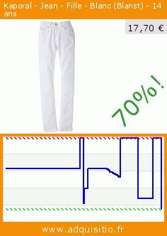 Kaporal - Jean - Fille - Blanc (Blanst) - 14 ans (Vêtements). Réduction de 70%! Prix actuel 17,70 €, l'ancien prix était de 59,00 €. http://www.adquisitio.fr/kaporal/jean-fille-blanc-blanst-0