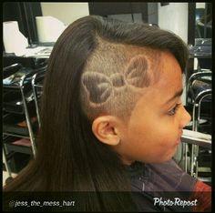 Undercut hair tattoo bow