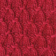 Faux smocking knit stitch. Love the texture.