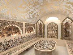 Spa Interior, Modern Interior Design, Islamic Architecture, Interior Architecture, Master Bath Shower, Steam Room, Steam Bath, Moroccan Interiors, Spa Rooms