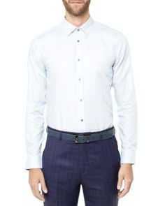 TED BAKER Unclbob Microcheck Cotton And Linen Shirt. #tedbaker #cloth # shirts | Ted Baker Men | Pinterest | Ted
