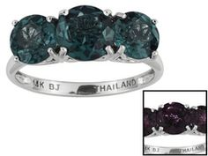 Synthetic Alexandrite 3.84ctw 14k White Gold Ring Web Only