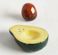 Avocado salt & pepper shaker set!!