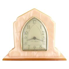Vintage desk clock New Haven windup c. 1920s from Victoria's Curio Exclusively on Ruby Lane
