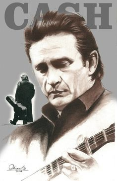 Johnny Cash by essenceofus on Etsy