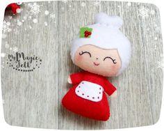 Christmas ornaments Mrs Claus felt Christmas by MyMagicFelt