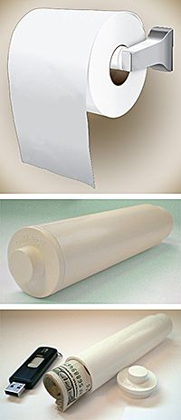 Keep your valuables tucked in your bathroom inside a toilet paper roller diversion safe from LockPickShop. Secret Hiding Places, Hiding Spots, Hidden Compartments, Secret Compartment, Secret Storage, Hidden Storage, Hidden Jewelry Storage, Diy Storage Design, Storage Ideas