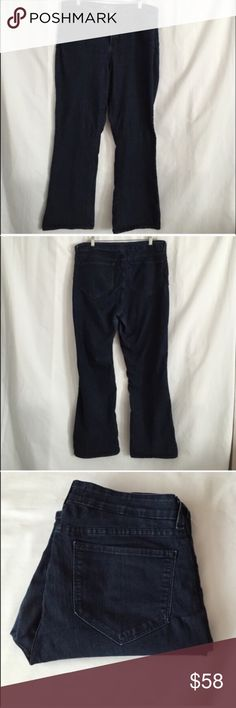"Blue NYDJ denim jeans Pre loved but good condition. 2 pockets in the back and 3 in the front. Has belt loops. Inseam approx 28.5"". Leg opening approx 9"". No wear on the bottom of pants. Measurement from crotch to waist approx 11.5 NYDJ Jeans"