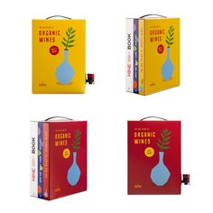 Bag-in-box packaging design for organic wines from Bodegas Neleman (neleman. The most tasty book about wine you ever read! Wine Design, Label Design, Package Design, Design Agency, Branding Design, Bag In Box, Book Care, Organic Wine, Nest Design