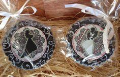 Galletas de Boda, paso a paso, decoradas con papel de azucar y fondant