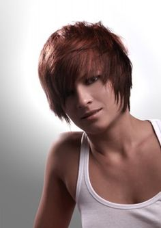 Layered middle length haircut