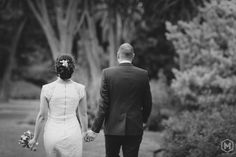 We like to capture the moments in-between.... So as well the moment when the couple is walking away for a new location to shoot in the Royal Botanic Garden - Melbourne #PhotographyStudioMarroni www.melbourneweddingphoto.com.au