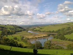 View from Sharpham toward Totnes