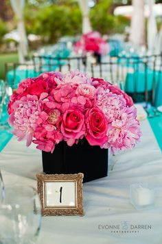 teal and fuscia wedding | Visit evonnedarren.net