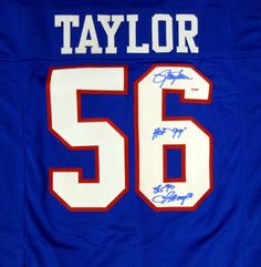 de60bcc4f4d30 This is a New York Giants Jersey that has been hand signed by Lawrence  Taylor.