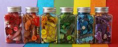 Whimsy jar ideas-fill with a collection of colourful buttons! Mason Jar, Whimsy Jar, Apothecary Jar, Jar Topper Idea.