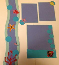 Under the sea border, journaling and photo mats. Handmade by Kjones. Please visit my Etsy store Mygift2you
