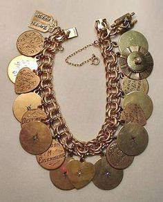 Sterling Vintage Family Charm Bracelet