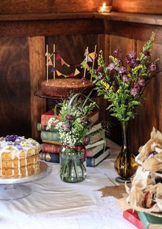 Laura and Dave's autumn barn wedding with a handfasting ceremony and seasonal decorations