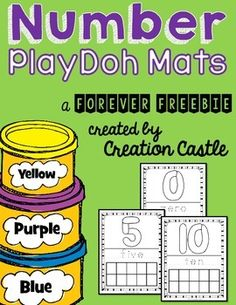 Number Playdoh MatsUse this simple playdough mats to practice number recognition and counting. Students will:1. Create numeral out of PlayDoh2. Trace number word with dry erase marker (cards must be laminated)3. Fill in appropriate number of boxes for each ten frameYou may be interested in some of my other PlayDoh resources:Alphabet PlayDoh MatsCustomer Tips:How to get TPT credit to use on future purchases: Please go to your My Purchases page (you may need to login).