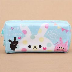 light blue colorful cute cats pencil case by Kamio from Japan 2