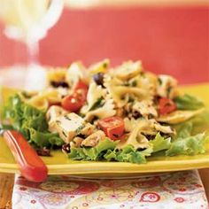 Chicken and Farfalle Salad with Walnut Pesto from Cooking Light