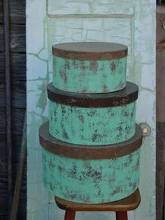 Absolutely brilliant ideas for painting wood and Paper Mache Boxes Painted Shabby