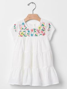 Embroidered tier dress Product Image
