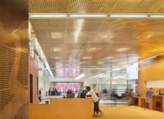 Ceilings Custom ceiling patterns can provide a beautiful wayfinding corridor and are warm, organic and offer a variety of acoustic performances: Absor...