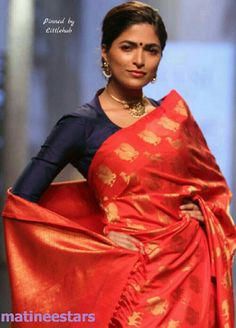 Models Walks For Santosh Parekh At Lakme Fashion Week Winter Festive 2016 - Hot Models Photo Gallery - High Resolution Pictures 14 Indian Silk Sarees, Pure Silk Sarees, Indian Blouse, Indian Dresses, Indian Outfits, Modern Saree, Simple Sarees, Indian Attire, Indian Wear
