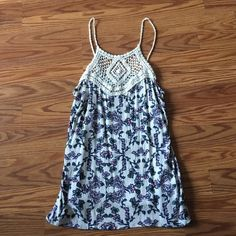 Floral Tank 100% Rayon floral tank with knit neck, worn twice Charlotte Russe Tops Tank Tops