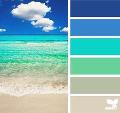 This palette for a bathroom. Beach Bliss with Color Palettes from the Shore by Design Seeds – Beach Bliss Living