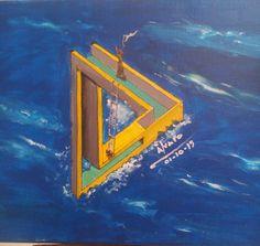 La angustia de un náufrago subido en lo alto de un triangulo imposible de bajar de allí y sin que nadie pueda auxiliarle. Ubicado en un lugar desconocido de uno de los Océanos.