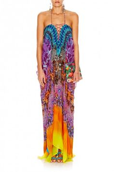 CAMILLA - HORIZON DAZE LACE UP KAFTAN - Dresses - Shop