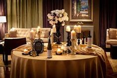 Gold elegant wedding theme