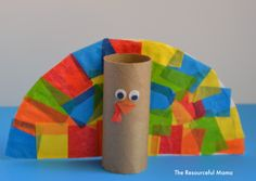Toilet paper roll turkey kid craft perfect for Thanksgiving! Thanksgiving Crafts For Toddlers, Easy Fall Crafts, Thanksgiving Crafts For Kids, Thanksgiving Turkey, Thanksgiving Activities, Holiday Activities, Preschool Activities, Holiday Crafts, Fall Preschool